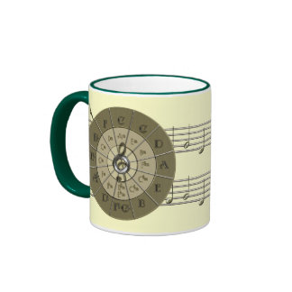 Circle of Fifths Deco Gold Ringer Mug
