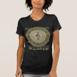 Circle of Fifths Deco Gold T Shirt