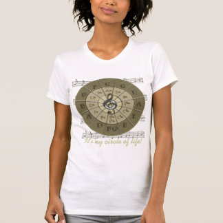 Circle of Fifths Deco Gold Shirts