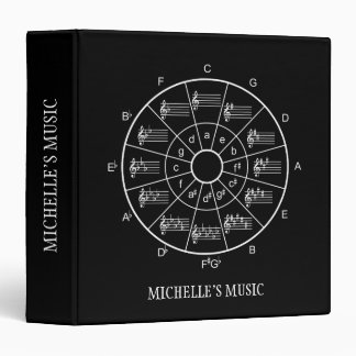 Circle of fifths design for musicians binder