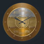 "Circle of Fifths for Musicians Who Shine Large Clock<br><div class=""desc"">This clock is designed to appear as if wrought in hammered gold,  silver,  and bronze,  and will look beautiful on any wall,  in particular that of the music studio.</div>"