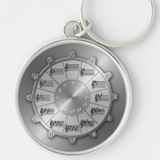 Circle Of Fifths Gear For Musicians Keychain at Zazzle