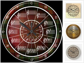 Circle of Fifths Music Clocks
