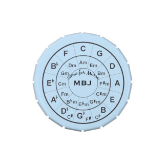 Circle of Fifths Music Lover Personalized Candy Tins