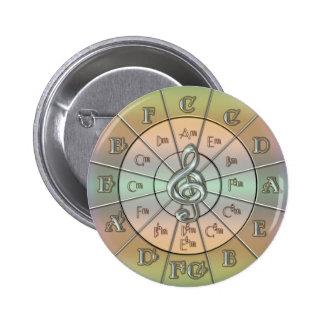 Circle of Fifths Pastel Pinback Button