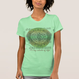 Circle of Fifths Pastel Unisex Tees