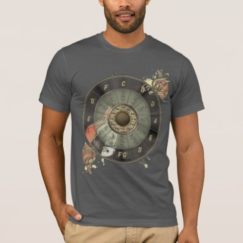 Circle Of Fifths Retro Guitar T_Shirt