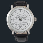 """Circle of Fifths Time for Music Black Wristwatch<br><div class=""""desc"""">This watch features the classic circle of fifths--a perfect gift for musicians or music lovers.</div>"""