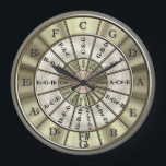 "Circle Of Fifths Wall Clock<br><div class=""desc"">All musicians should know the importance of the circle of fifths. What better way to learn it or remind yourself than purchase a great item with it on! This stylish and useful clock design shows the major keys and their relative minors plus the major triads. A great gift idea for...</div>"