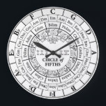 "Circle of Fifths White Round Large Wall Clock<br><div class=""desc"">Circle of Fifths White Round Large Wall Clock</div>"