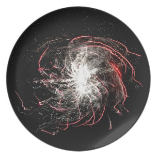 Circle of fire dinner plate