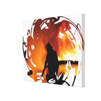 Circle Of Flames Canvas Print