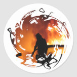 Circle Of Flames Classic Round Sticker