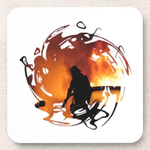 Circle Of Flames Drink Coaster