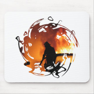 Circle Of Flames Mouse Pad