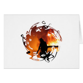Circle Of Flames Stationery Note Card