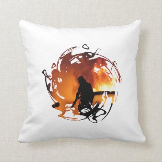 Circle Of Flames Throw Pillow