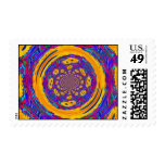 Circle Of Flowers #2 Postage Stamps