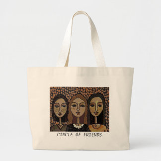 CIRCLE OF FRIENDS - sepia version classic tote bag