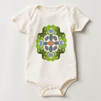 Circle of Frogs Mandala Baby Bodysuit