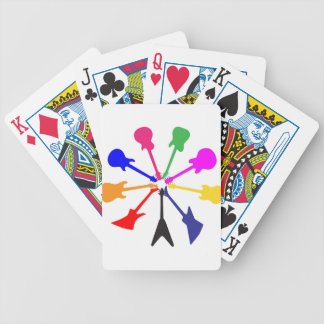 Circle Of Guitars Bicycle Playing Cards