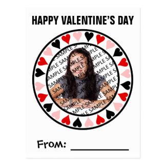 Circle of Hearts Photo Valentine Exchange Postcard