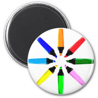 Circle of Highlighter Pens Magnet