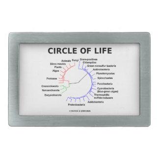 Circle Of Life Circular Phylogenetic Tree Rectangular Belt Buckles