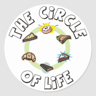 Circle of Life: Food, Meal, Dinner and Dessert Classic Round Sticker
