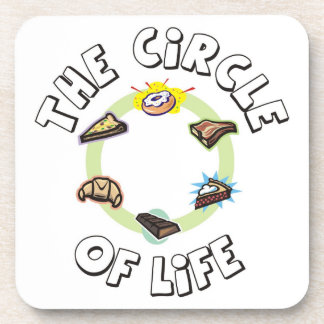 Circle of Life Food Meal Dinner and Dessert Drink Coaster