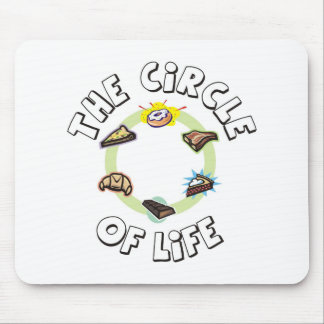 Circle of Life: Food, Meal, Dinner and Dessert Mousepads