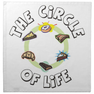 Circle of Life: Food, Meal, Dinner and Dessert Napkin