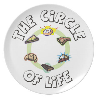 Circle of Life: Food, Meal, Dinner and Dessert Plate