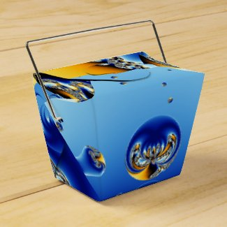 Circle Of Life Geo Shapes Fractal Party Favor Box