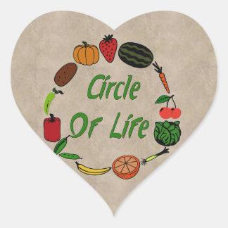 Circle Of Life Heart Sticker