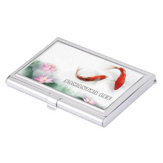 Circle of Life Oriental Zen Feng Shui Koi & Lotus Business Card Case
