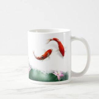 Circle of Life Oriental Zen Feng Shui Koi & Lotus Coffee Mug