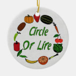 Circle Of Life Double-Sided Ceramic Round Christmas Ornament