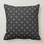 Circle of Life Pattern in Black and Grey Throw Pillow (<em>$49.60</em>)