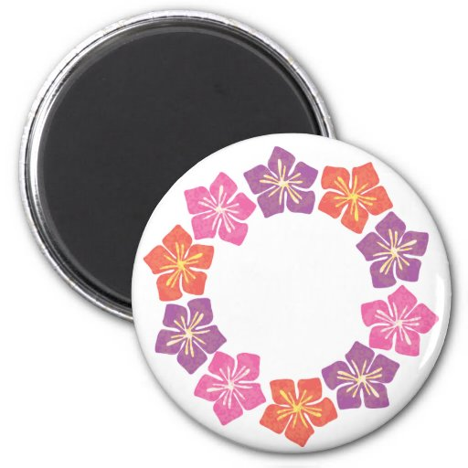 Circle of Lillies Fridge Magnets
