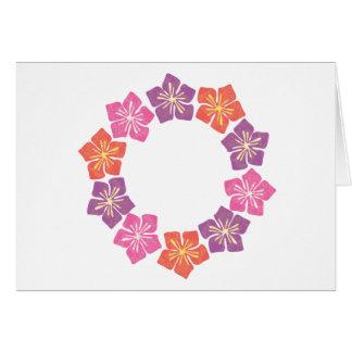 Circle of Lillies Greeting Card