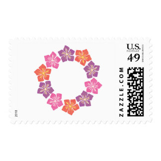 Circle of Lillies Postage Stamp