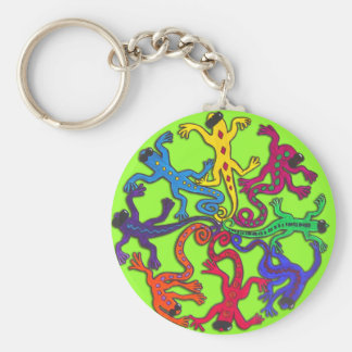 Circle of Lizards Keychain