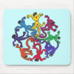 Circle of Lizards Mouse Pads