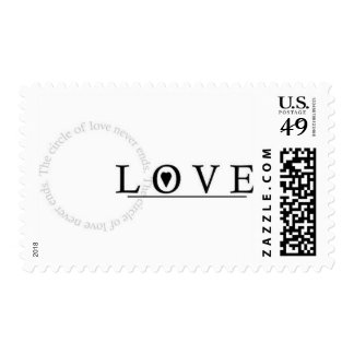 Circle of Love - customizable with your text Postage Stamp