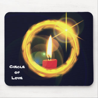 Circle of Love Mouse Pad