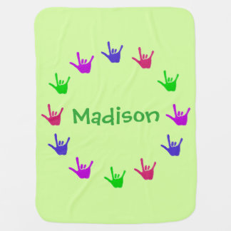 Circle of Love Personalized Baby Blankets