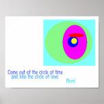 Circle of Love Rumi Poster