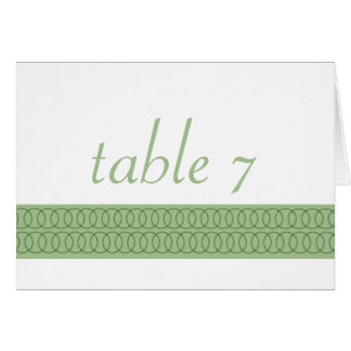 Circle of Love Wedding Table Card