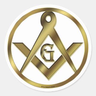 Circle of Masons Classic Round Sticker